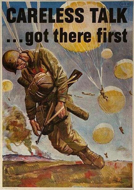 WW II Posters: Careless Talk... Got there First
