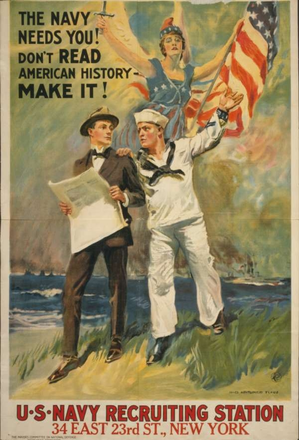 US-Navy Recruiting Station poster