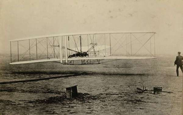 Orville Wright Makes One of Several Power Flights, Dec. 17, 1903, First in World History