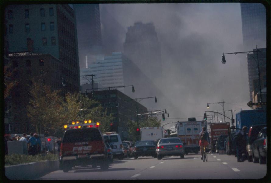 Street scene after the September 11th terrorist attack on the World Trade Center, New York City