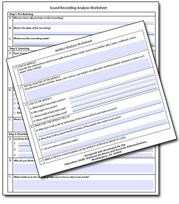 Printables Primary Source Analysis Worksheet display textbook these worksheets have been developed by the national archives pdf format